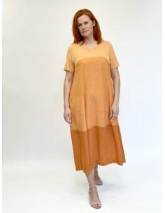 Lininė suknelė, oranžinė