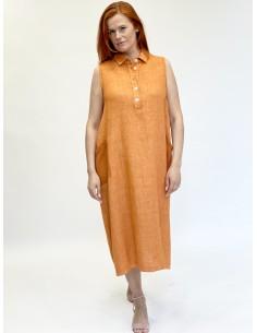 Lilinė suknelė, oranžinė