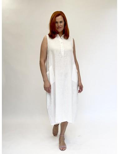 Lilinė suknelė, balta